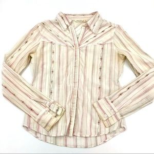 Maurices Size S Womens White Button Up Shirt